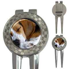 Beagle Sleeping 3-in-1 Golf Divots