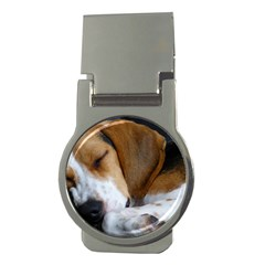 Beagle Sleeping Money Clips (Round)