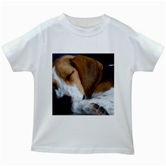 Beagle Sleeping Kids White T-Shirts