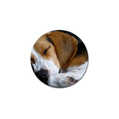 Beagle Sleeping Golf Ball Marker (4 pack)