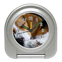 Beagle Sleeping Travel Alarm Clocks