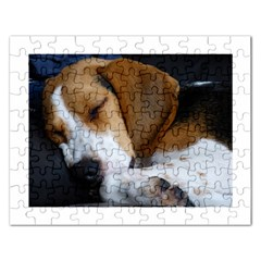 Beagle Sleeping Rectangular Jigsaw Puzzl