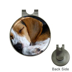 Beagle Sleeping Hat Clips with Golf Markers
