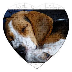 Beagle Sleeping Jigsaw Puzzle (Heart)