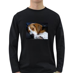 Beagle Sleeping Long Sleeve Dark T-Shirts