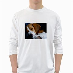 Beagle Sleeping White Long Sleeve T-Shirts