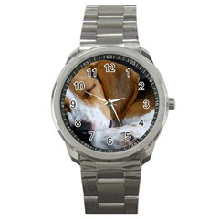Beagle Sleeping Sport Metal Watches