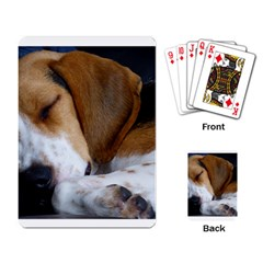 Beagle Sleeping Playing Card