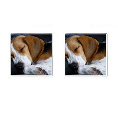 Beagle Sleeping Cufflinks (Square)