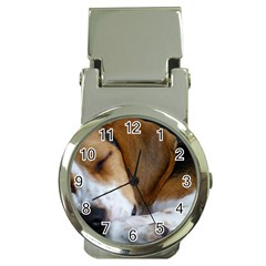 Beagle Sleeping Money Clip Watches
