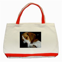 Beagle Sleeping Classic Tote Bag (Red)