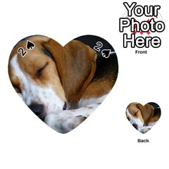 Beagle Sleeping Playing Cards 54 (Heart)