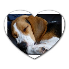 Beagle Sleeping Heart Mousepads
