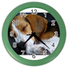 Beagle Sleeping Color Wall Clocks