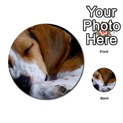 Beagle Sleeping Multi-purpose Cards (Round)