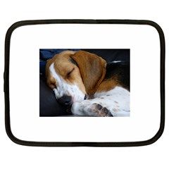 Beagle Sleeping Netbook Case (Large)