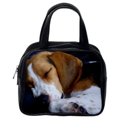 Beagle Sleeping Classic Handbags (One Side)