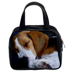 Beagle Sleeping Classic Handbags (2 Sides)