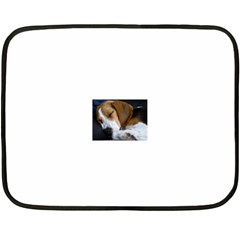 Beagle Sleeping Double Sided Fleece Blanket (Mini)