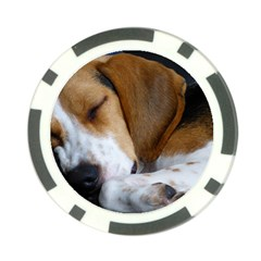 Beagle Sleeping Poker Chip Card Guards (10 pack)