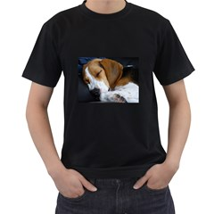 Beagle Sleeping Men s T-Shirt (Black)