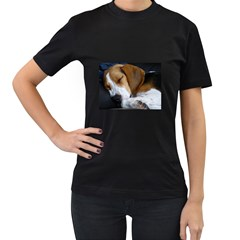 Beagle Sleeping Women s T-Shirt (Black)