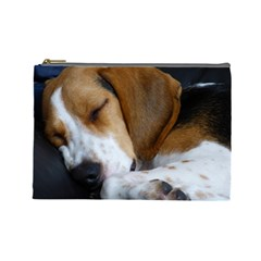 Beagle Sleeping Cosmetic Bag (Large)