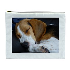 Beagle Sleeping Cosmetic Bag (XL)