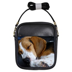 Beagle Sleeping Girls Sling Bags