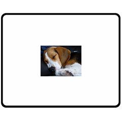 Beagle Sleeping Fleece Blanket (Medium)