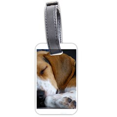 Beagle Sleeping Luggage Tags (One Side)