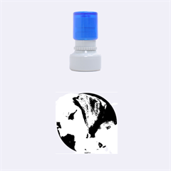Beagle Sleeping Rubber Round Stamps (Small)