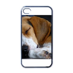 Beagle Sleeping Apple iPhone 4 Case (Black)