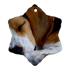 Beagle Sleeping Ornament (Snowflake)