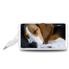 Beagle Sleeping Portable Speaker (White)