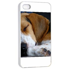 Beagle Sleeping Apple iPhone 4/4s Seamless Case (White)