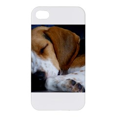 Beagle Sleeping Apple iPhone 4/4S Premium Hardshell Case