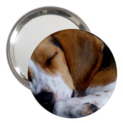 Beagle Sleeping 3  Handbag Mirrors