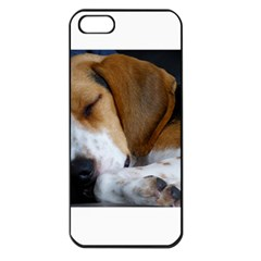 Beagle Sleeping Apple iPhone 5 Seamless Case (Black)