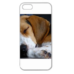 Beagle Sleeping Apple Seamless iPhone 5 Case (Clear)