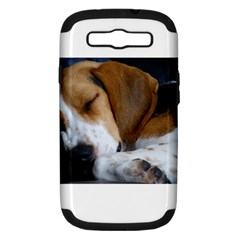 Beagle Sleeping Samsung Galaxy S III Hardshell Case (PC+Silicone)