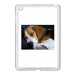 Beagle Sleeping Apple iPad Mini Case (White)