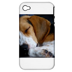 Beagle Sleeping Apple iPhone 4/4S Hardshell Case (PC+Silicone)
