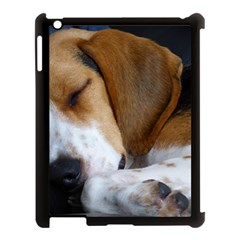 Beagle Sleeping Apple iPad 3/4 Case (Black)