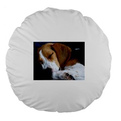 Beagle Sleeping Large 18  Premium Round Cushions