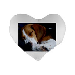 Beagle Sleeping Standard 16  Premium Heart Shape Cushions