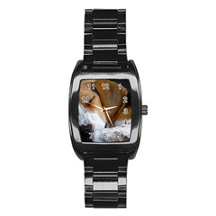 Beagle Sleeping Stainless Steel Barrel Watch