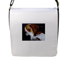 Beagle Sleeping Flap Messenger Bag (L)