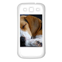 Beagle Sleeping Samsung Galaxy S3 Back Case (White)
