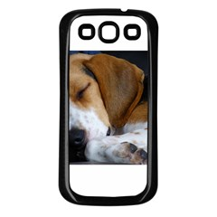 Beagle Sleeping Samsung Galaxy S3 Back Case (Black)